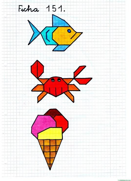 Dibujos sobre la playa- Ficha 5