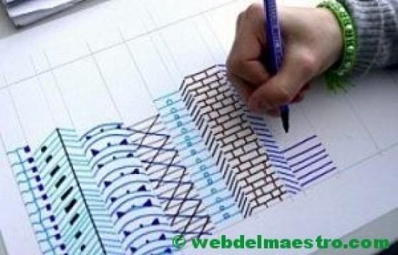 Dibujo De Lineas Paisaje: Dibujos En 3d Para Niños - Web Del