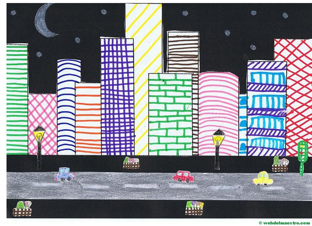 Dibujos con líneas | Dibujos en 3d para niños - Web del maestro