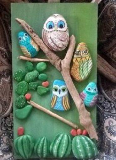Cuadros hechos con piedras