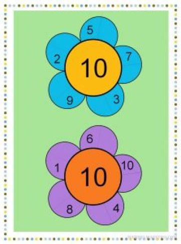 Descomponer el número 10-color