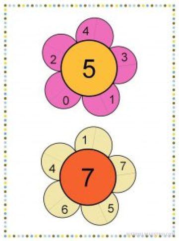 Descomponer los números 5 y 7-