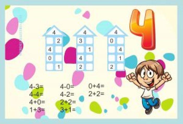 Descomponer números-Actividades color-4