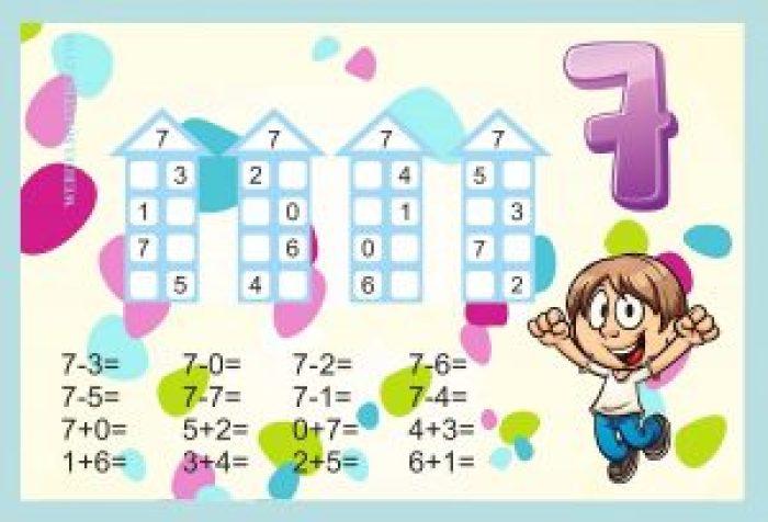 Descomponer números-Actividades color-7