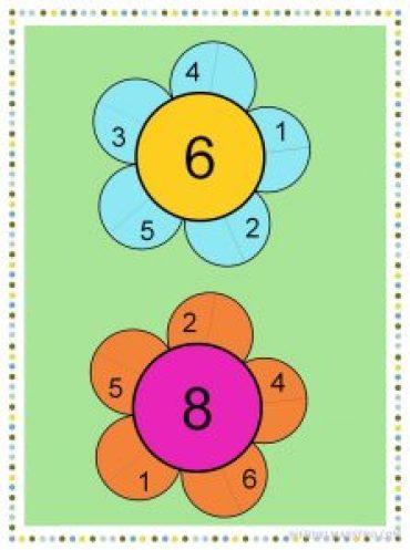 Descomposicion de números-- 6 y 8-color-