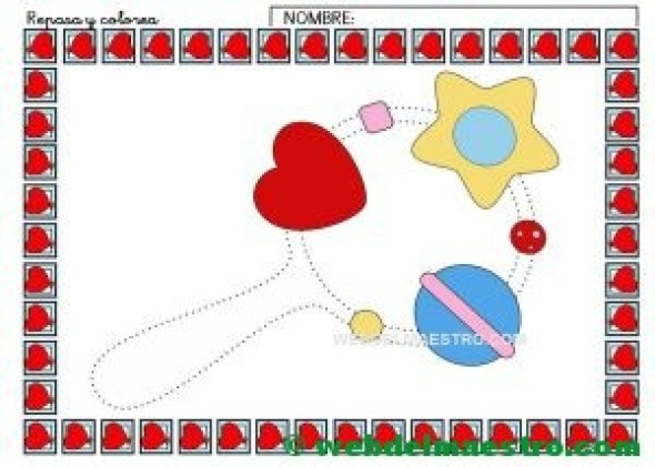 Ficha de grafomotricidad para imprimir-III-color