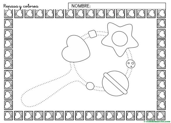 Ficha de grafomotricidad para imprimir-III