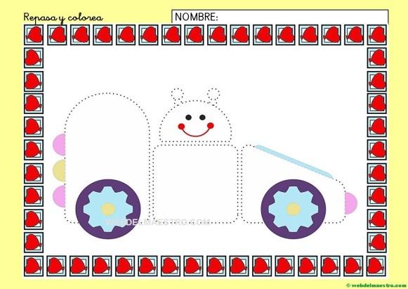 Ficha de grafomotricidad para imprimir-IV-color