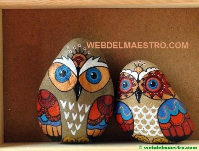 Piedras decoración-buhos-1