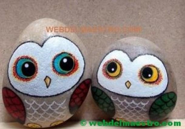 Piedras decoración-buhos-5