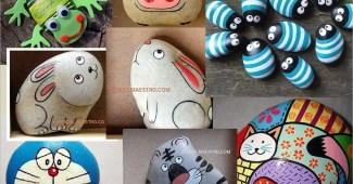 Piedras pintadas-Cómo pintar piedras
