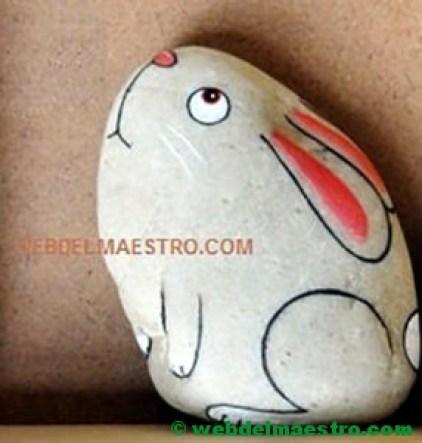 Piedras pintadas para niños-3-conejo