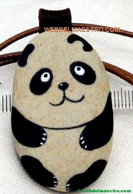 Pintar piedras-oso panda-2