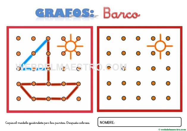Dibujos para unir puntos-barco-1