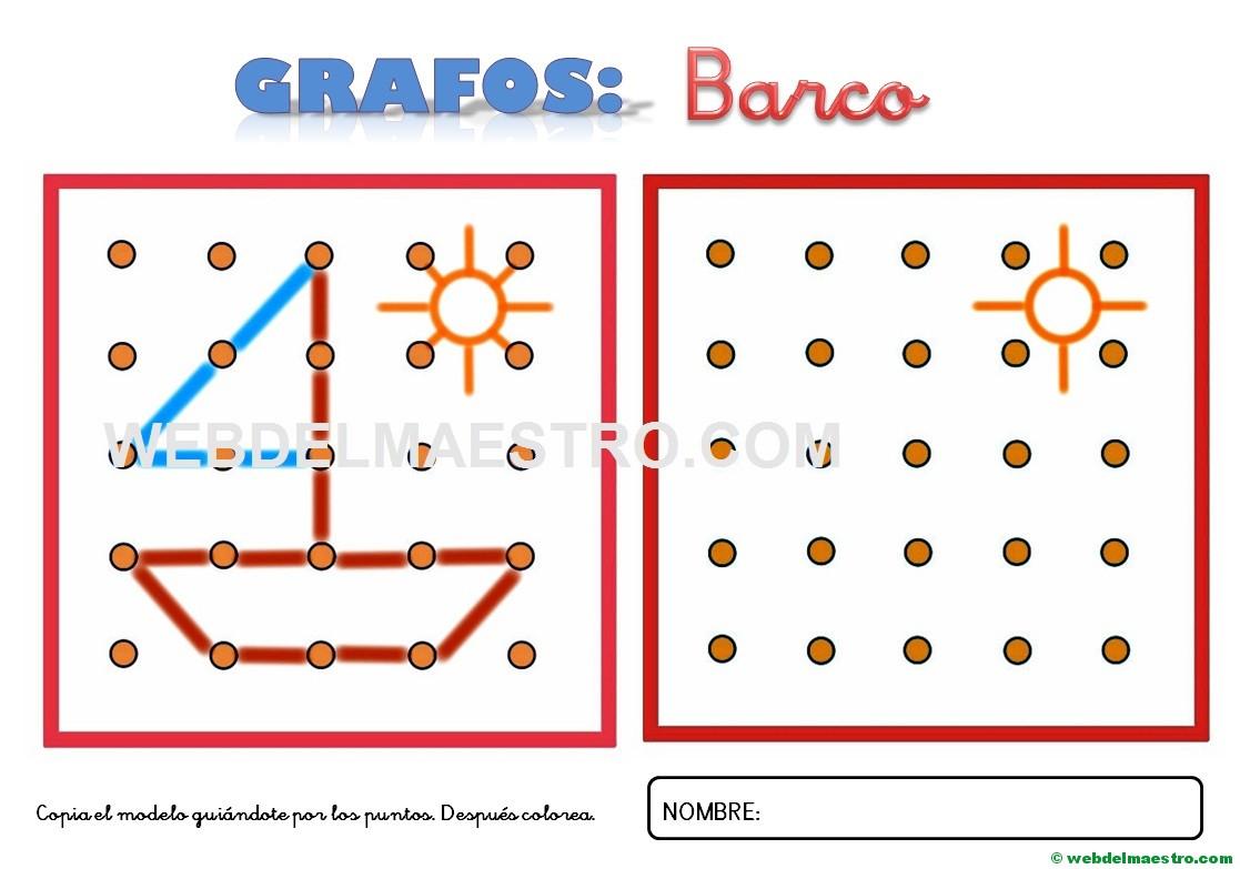 Dibujos Para Unir Puntos Barco 1 Web Del Maestro