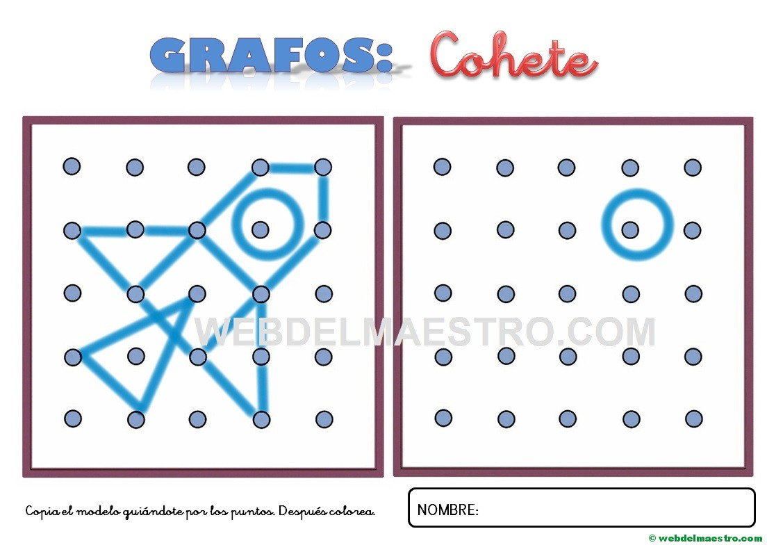 Numeros Para Colorear En Linea Fichas Para Unir Puntos Y: Dibujos Para Unir Puntos-cohete