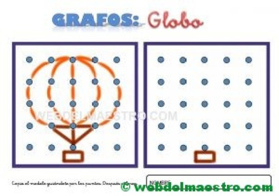 Dibujos para unir puntos-globo