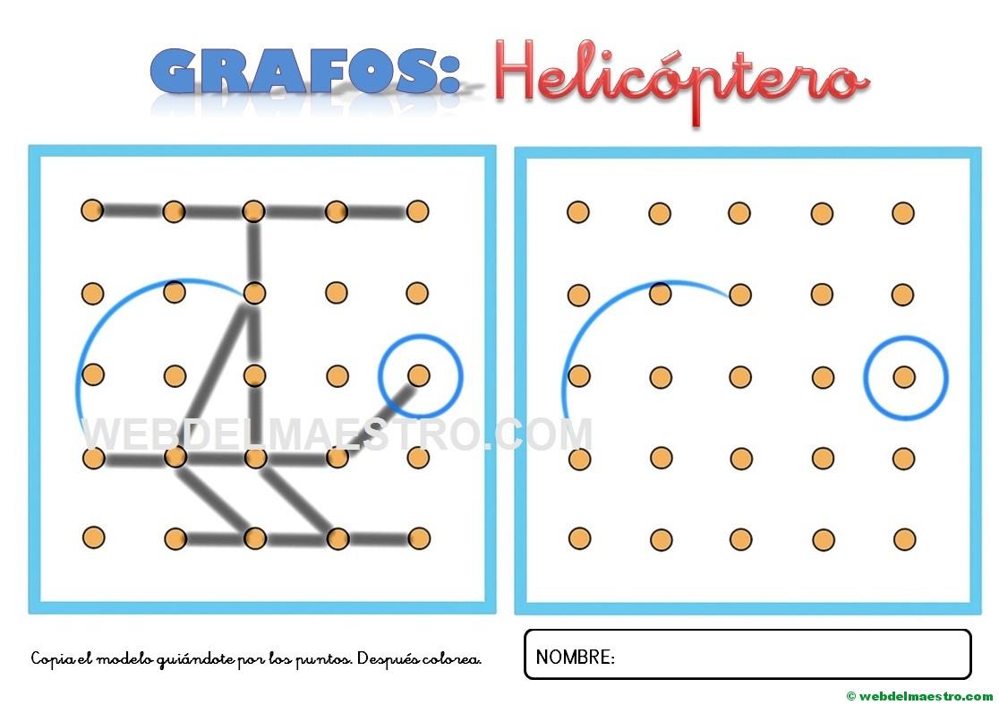 Dibujos Para Unir Puntos Helicóptero Web Del Maestro