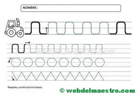 Ejercicios de grafomotricidad para 4 años-I
