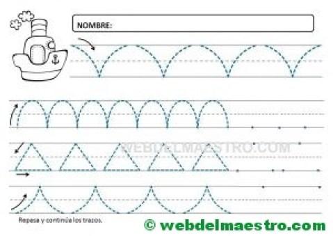 Ejercicios de grafomotricidad para 4 años