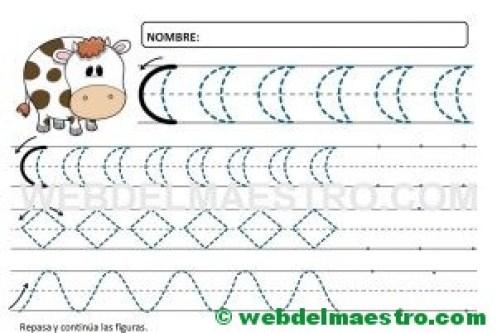 Ejercicios de grafomotricidad para 4 años-V