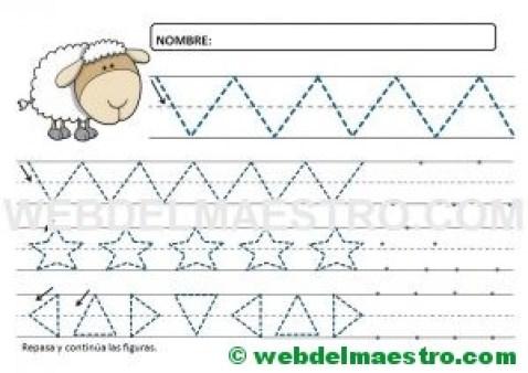 Ejercicios de grafomotricidad para 4 años-VIII