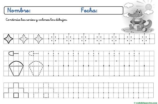 Ejercicios de grafomotricidad para imprimir-IV