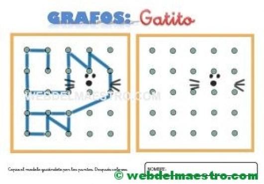 Grafos-Unir puntos-Gatito
