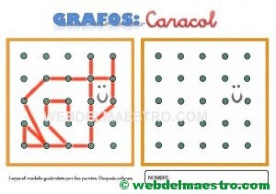 Grafos-Unir puntos-caracol