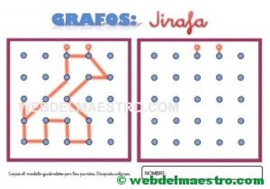 Grafos-Unir puntos-jirafa