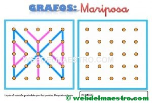 Grafos-Unir puntos-mariposa