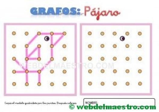 Grafos-Unir puntos-pájaro