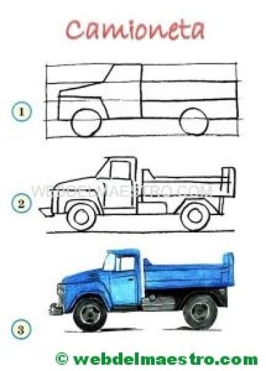 Aprender a dibujar-camioneta