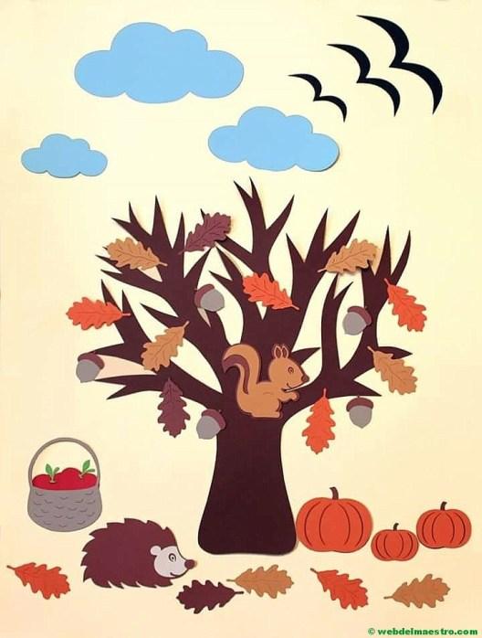 Arbol y frutos de otoño