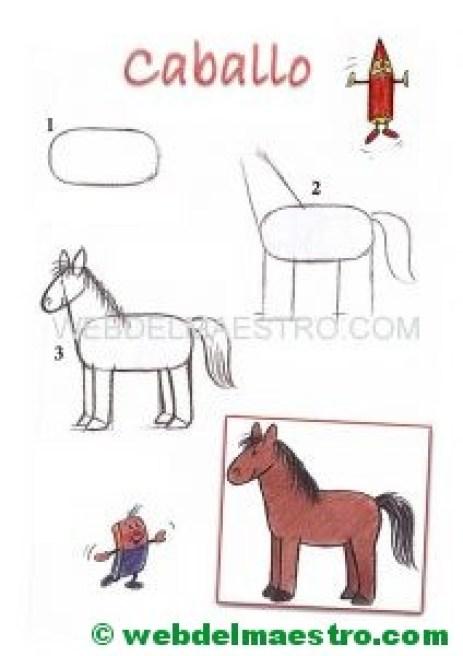 Cómo dibujar animales-caballo