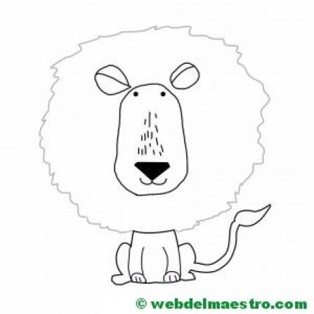 dibujo de león