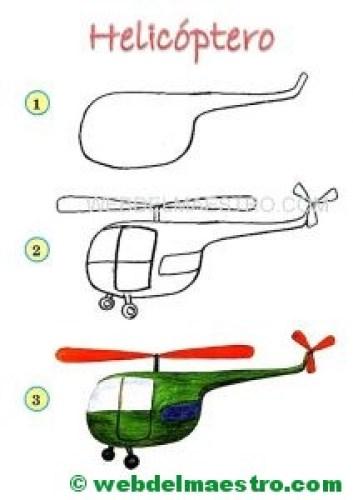 dibujos fáciles-helicóptero