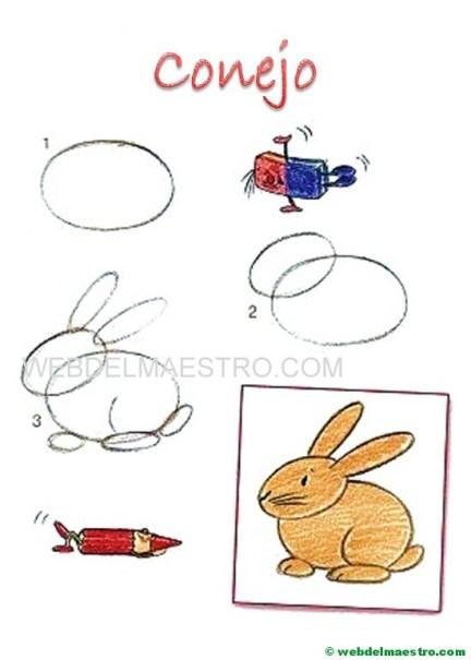 dibujos fáciles paso a paso-conejo