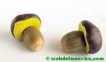 manualidades con bellotas y castañas