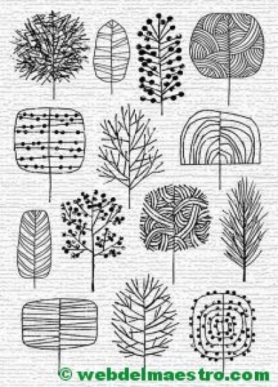 modelos para dibujar árboles