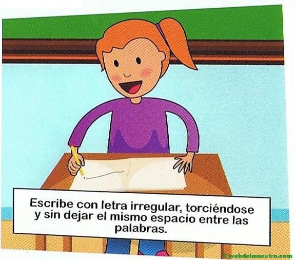 10. Escribe con letra irregular