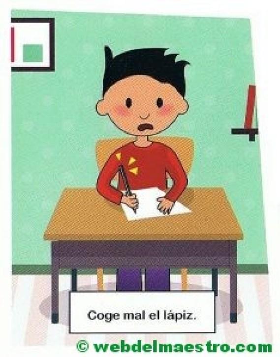 17. Coge mal el lápiz