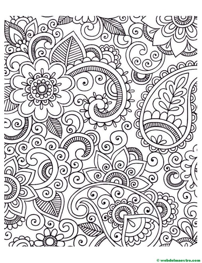 Dibujos de flores antiestrés