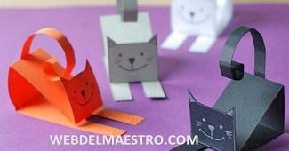 Manualidades fáciles-gato de cartulina