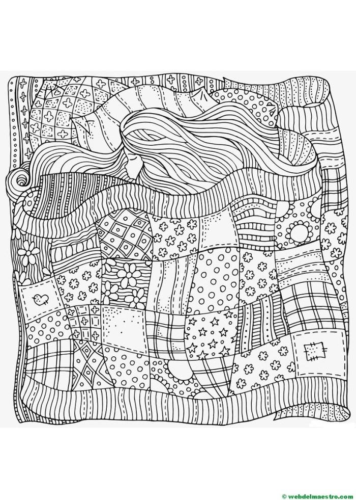 Terapia antiestrés para colorear-Durmiente