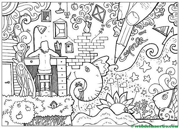 Web Del Maestro Paisajes Para Pintar Dibujos Para Colorear