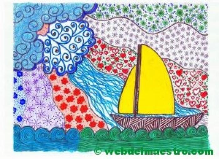 Dibujo nº 13-El barco y el viento-