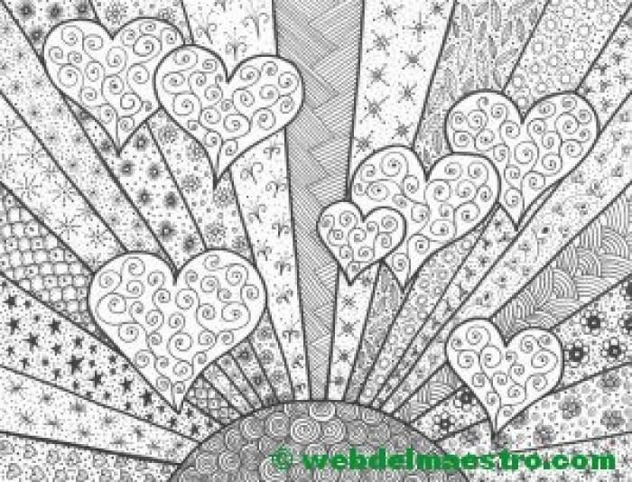 Dibujo nº 14-Sol con corazones