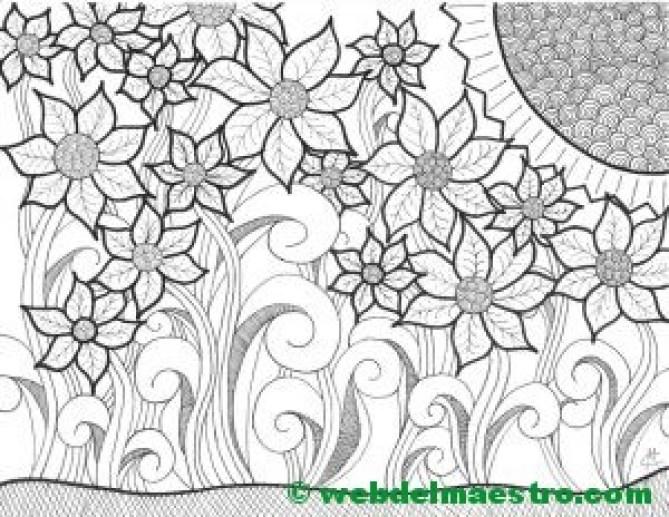 Dibujo nº 6-El sol y las flores