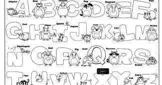 Abecedario en inglés - letras en inglés